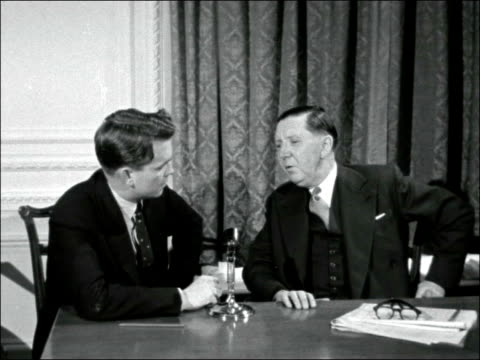london regent street int mr co stanley interview sof about exports increased production and sales etc effects of the suez crisis t/x 291156 / 1045pm - itv late evening bulletin stock videos and b-roll footage