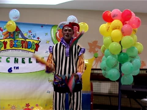 mr.clown - juggler stock videos and b-roll footage