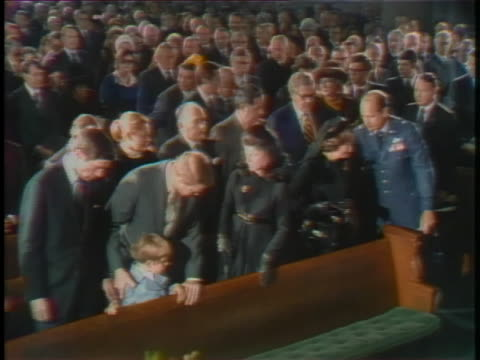 mrs. lady bird johnson and family arrive at the national city christian church for the funeral of president lyndon baines johnson. - 1973 stock videos & royalty-free footage