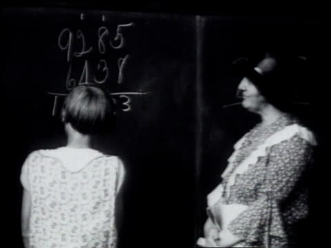 1930 montage mrs. lou hoover teaching school - 1930 stock-videos und b-roll-filmmaterial
