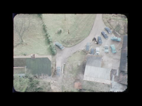 england hertfordshire stocking pelham view over farmhouse rl cars parked alongside - farmhouse stock videos & royalty-free footage