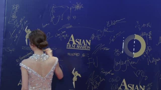 ms kim gyuri south korean actress attends to the 13th asian film awards red carpet on march 17 2019 in hong kong hong kong - actress stock videos & royalty-free footage
