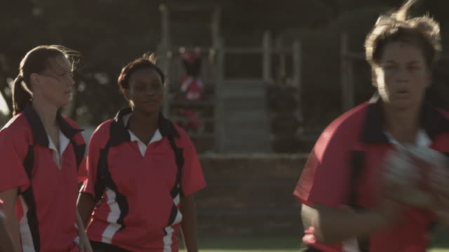 ms_womens rugby team at practice on the field - 30 39 years stock videos & royalty-free footage