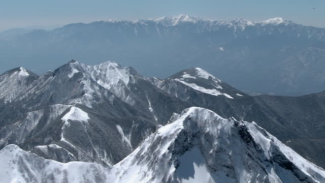 aerial, mt amida and climbers, nagano, japan - march month stock videos & royalty-free footage