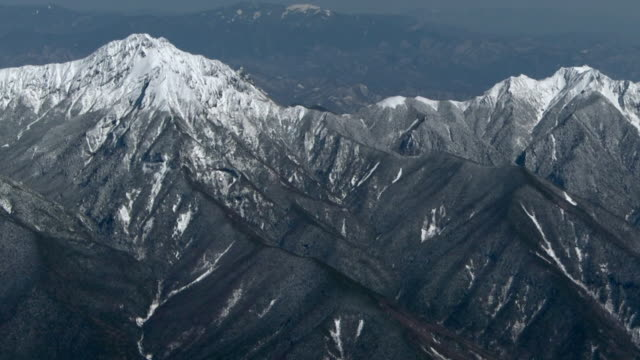 aerial, mt amida, nagano, japan - march month stock videos & royalty-free footage