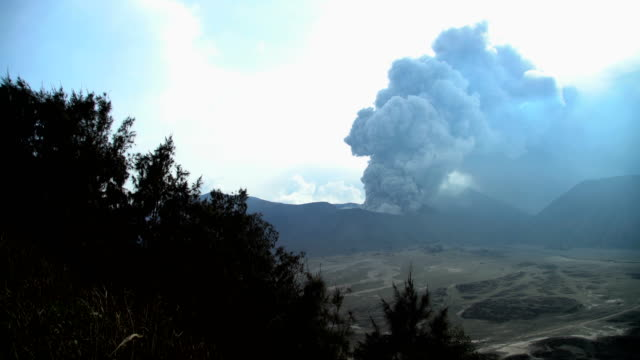 mt bromo erupting active barren volcanic mountain java - erupting stock videos & royalty-free footage