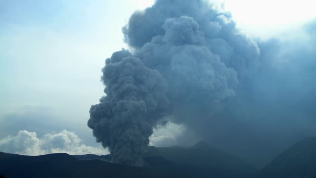 mt bromo erupting active volcanic mountain java indonesia - erupting stock videos & royalty-free footage