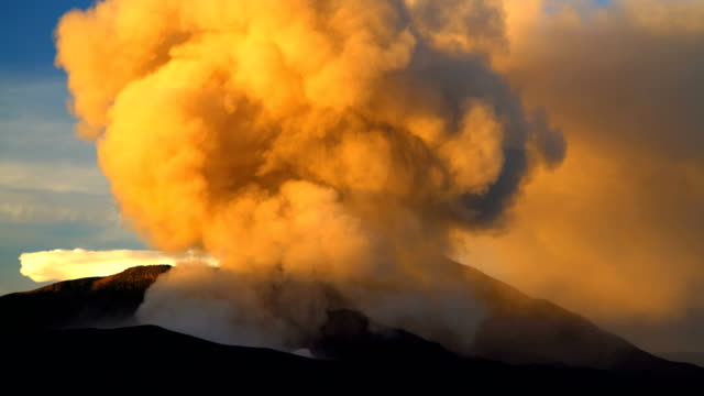 mt bromo volcano eruption at sunrise java indonesia - erupting stock videos & royalty-free footage