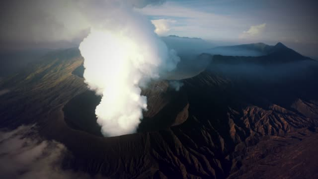 mt bromo volcano - indonesia landscape stock videos & royalty-free footage