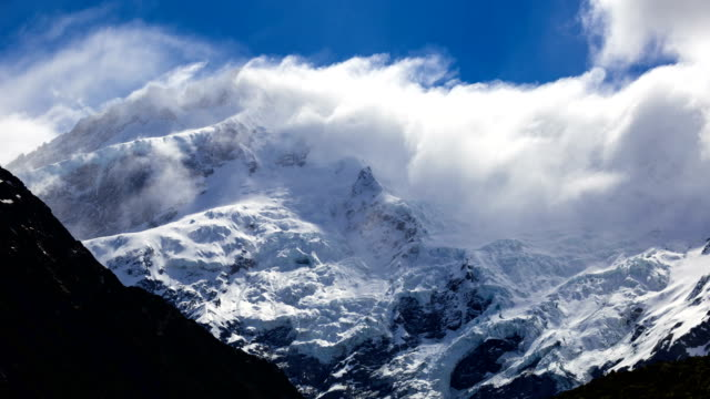 mt. cook time-lapse - weather stock videos & royalty-free footage