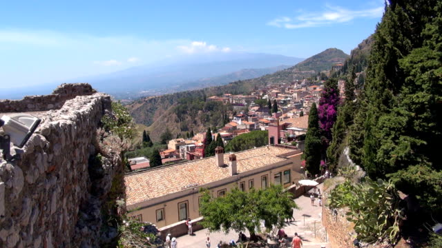 mt etna - taormina, sicily, italy - sicily stock videos & royalty-free footage