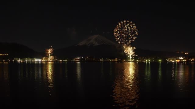 Mt. Fuji and Fireworks