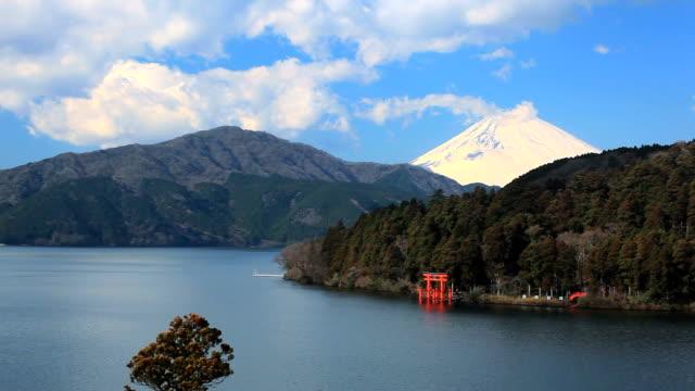 Mt fuji and lake-ashi in Japan.