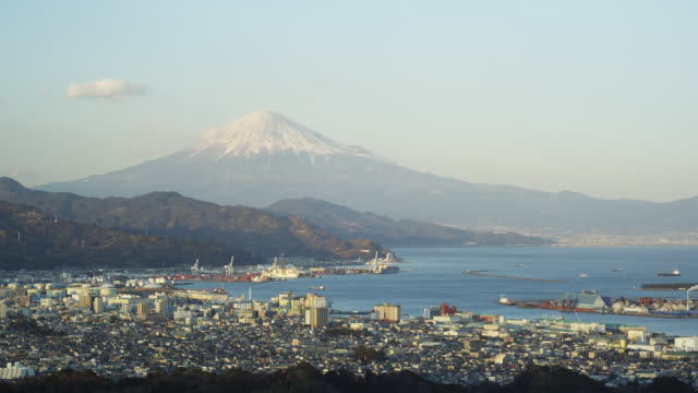 mt. fuji and suruga bay in japan - shizuoka prefecture stock videos and b-roll footage