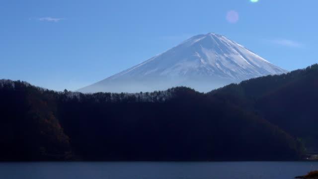 mt fuji from lake kawaguchi - plusphoto stock videos & royalty-free footage