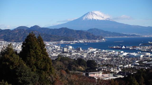 mt. fuji from nihondaira - shizuoka prefecture stock videos and b-roll footage