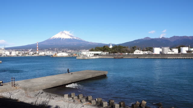 mt. fuji from port tagonoura - shizuoka prefecture stock videos and b-roll footage