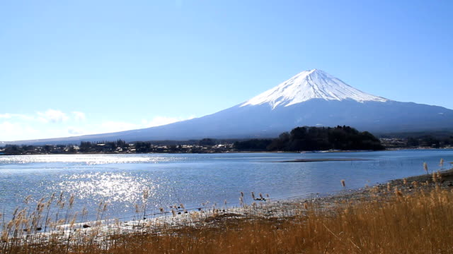 Mt Fuji in windy day