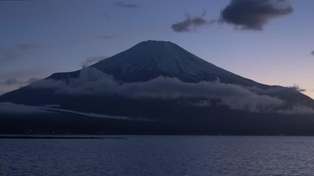 Mt. Fuji over Lake Yamanaka at Dusk