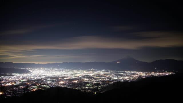 Mt. Fuji over the City Lights