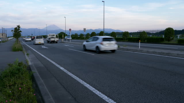 mt. fuji over the highway - moving past stock videos & royalty-free footage