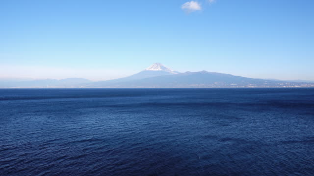 mt. fuji over the ocean - wide stock videos and b-roll footage