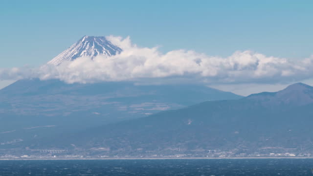 mt. fuji over the suruga bay - light natural phenomenon stock videos and b-roll footage