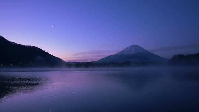 Mt Fuji reflect lake in the early morning