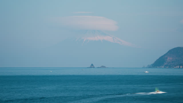 Mt. Fuji with Lenticular Clouds over the Sea
