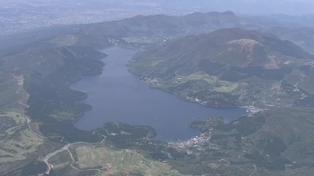 AERIAL, Mt Hakone With Lake Ashi, Kanagawa, Japan