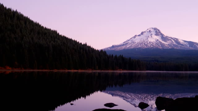 mt. hood view (oregon) - mt hood stock videos & royalty-free footage
