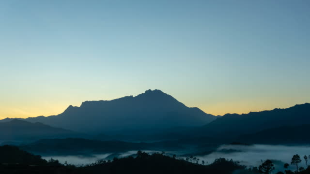 mt kinabalu sunrise time lapse - malaysia stock videos and b-roll footage