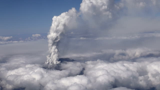 mt. ontake, a volcano straddling nagano and gifu prefectures in central japan, erupted around 11:53 a.m. on saturday, september 27. the nagano fire... - face down stock videos & royalty-free footage