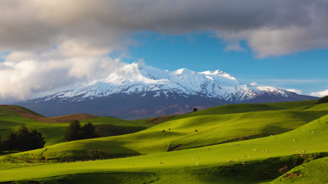 time lapse: mt ruapehu new zealand - new zealand stock videos & royalty-free footage