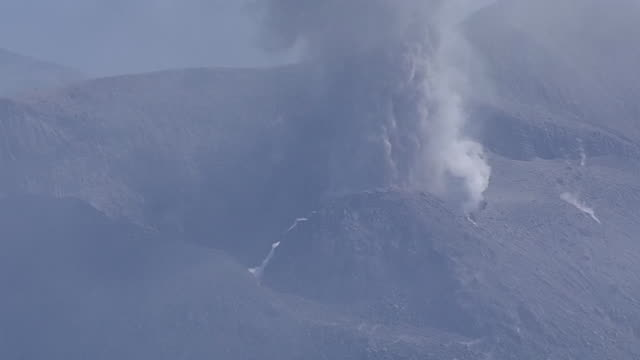 aerial, mt shindake in kuchinoerabujima is, kagoshima, japan - philippine sea stock videos & royalty-free footage