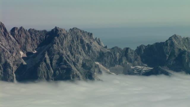 ms, ha, pan,  mt skrlatica surrounded with clouds, triglav national park, gorenjska, slovenia - triglav national park stock videos and b-roll footage