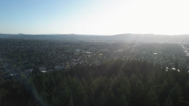 mt tabor park and surrounding neighborhood, portland, oregon - aerial view - portland oregon homes stock videos & royalty-free footage
