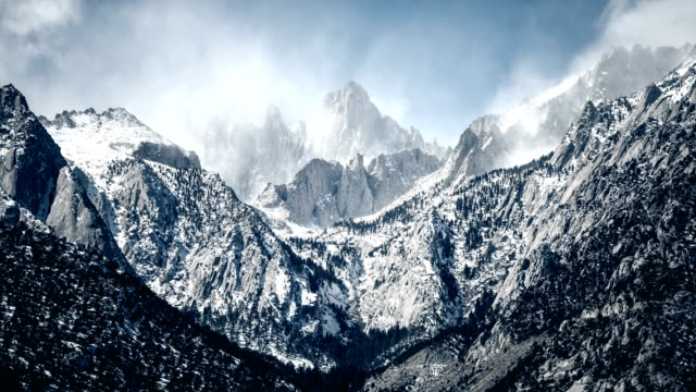 mt. whitney eastern sierra time lapse - californian sierra nevada stock videos and b-roll footage