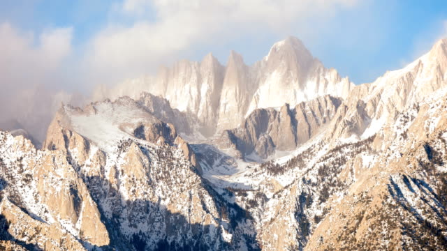 mt. whitney sunrise eastern sierra time lapse - californian sierra nevada stock videos & royalty-free footage