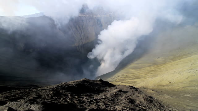 mt.bromo crater - bromo crater stock videos & royalty-free footage