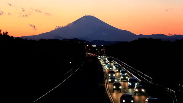 mt.fuji and traffic - plusphoto stock videos & royalty-free footage