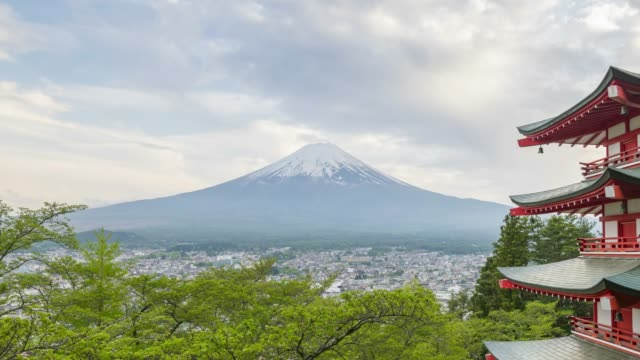 mt.fuji in cloudy day 4k time lapse - cultures stock videos & royalty-free footage