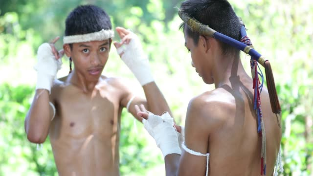 muay thai or thai boxing at thailand - muay thai stock videos and b-roll footage
