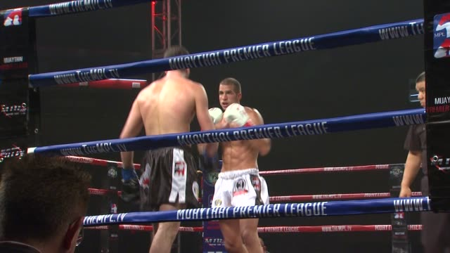 muaythai atmosphere at the muaythai premier league debuts at long beach ca - muay thai stock videos and b-roll footage