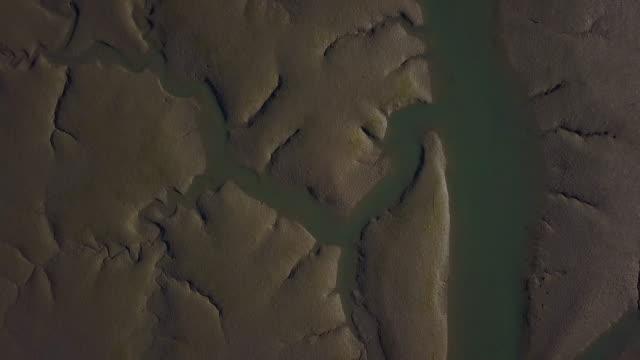 mud flat of western sea (yellow sea), south korea - mud flat stock videos and b-roll footage