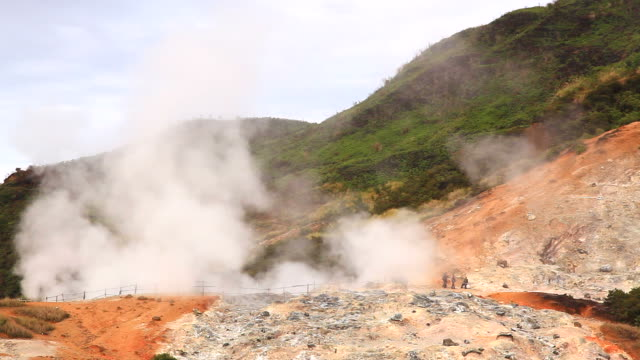 mud geysers pool dieng plateau wonosobo indonesia - erupting stock videos & royalty-free footage