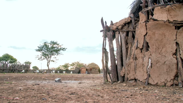 ws ds mud huts in the himba village - shack stock videos and b-roll footage