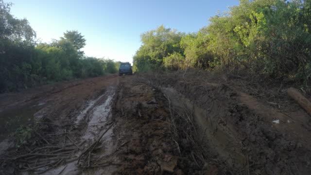 Muddy road in Madagascar