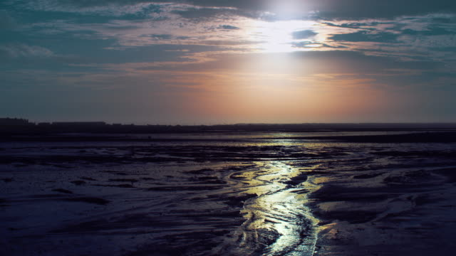 mudflats 1 - low tide stock videos & royalty-free footage