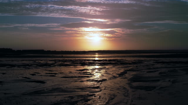 mudflats 2 - low tide stock videos & royalty-free footage